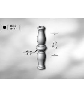 Manchon décoratif en acier tournés hauteur 170 mm
