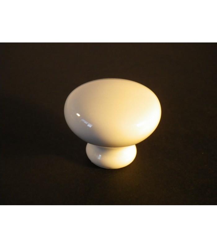 Bouton porcelaine blanche