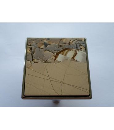 Poignée bouton de meuble en pierre Paesina