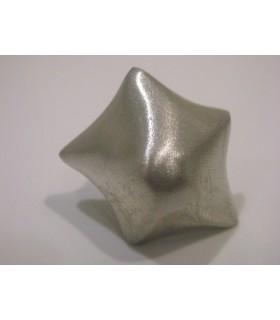 Poignée bouton métal argenté etoile