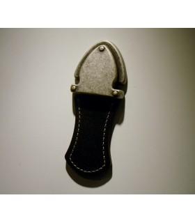 Poignée de meuble tirette par Bosetti Marella en cuir noir
