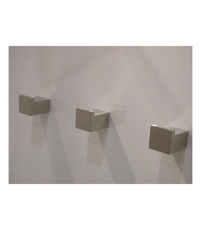 Poignée bouton carré fixe Quadro