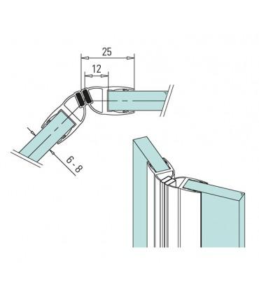 Joint d'étanchéité magnétique 135°