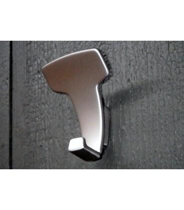 Patère design LID0157 nickel satiné