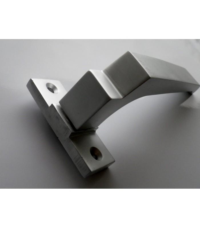 paire de poign e aluminium sur rosace rectangulaire igs d co. Black Bedroom Furniture Sets. Home Design Ideas