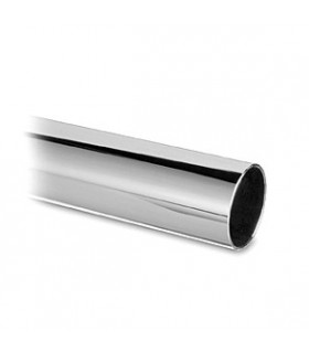 Tube chromé brillant diamètre 38.1 mm