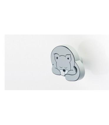 Poignée bouton série Animal dreams chat gris