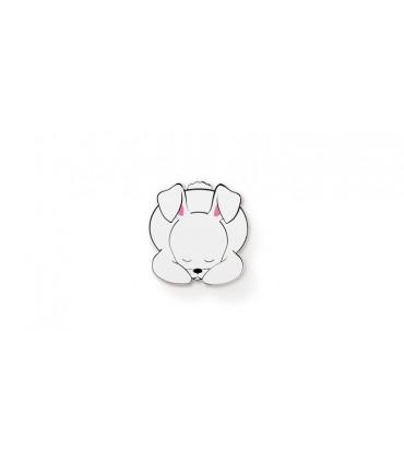 Poignée bouton série Animal dreams lapin blanc