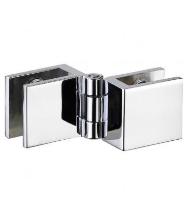 Charnière pour porte de vitrine montage verre sur verre