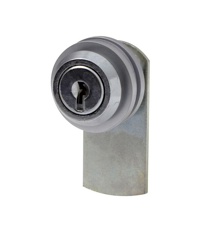 Serrure batteuse flasque ronde pour porte de vitrine en verre