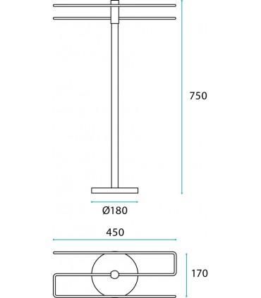 Porte serviette double à poser série Fine