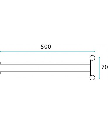 Porte serviette rotatif Fine