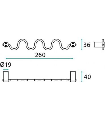 Porte serviette ou patère série Cilindro technique