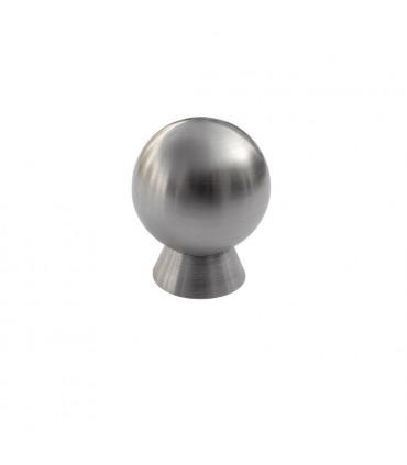 Poignée bouton boule avec base cônique en inox brossé