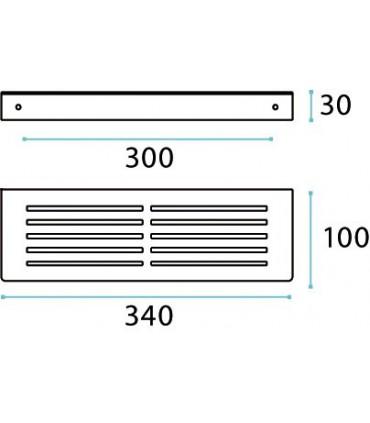 Etagère pour salle de bains série 2D technique