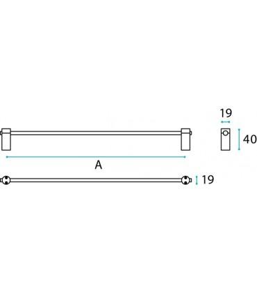 Porte serviette série Cilindro technique