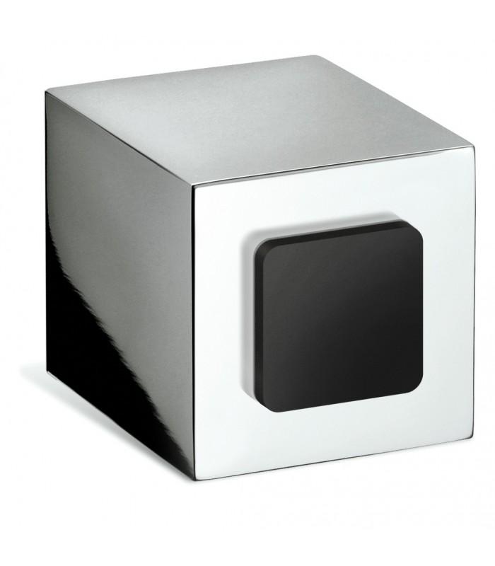 Butée de porte Cubo chromé brillant
