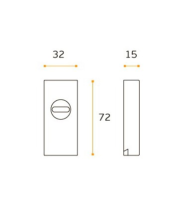 Rosace de protection rectangulaire simple inox aisi 316