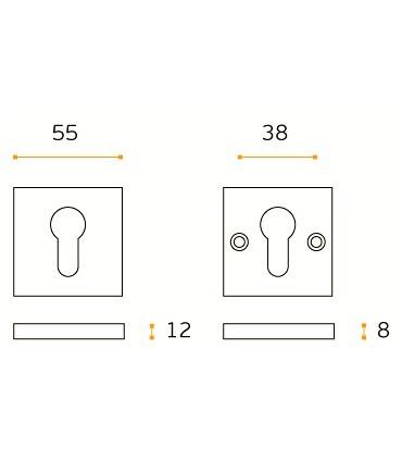 Rosace de protection carrée double inox aisi 304