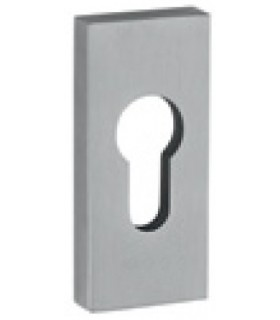 Rosace de protection rectangulaire simple inox 316