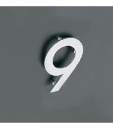 Chiffre découpé en Inox 304 sur pions ht.100