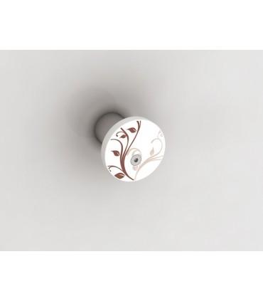 Patère porte peignoir Button floral