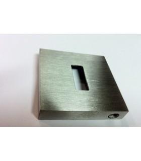 Rosace carrée pour entrée de clé avec découpe rectangulaire