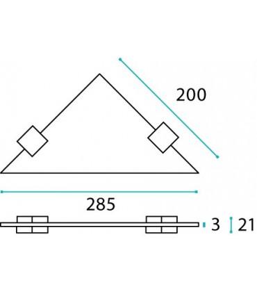 Etagère d'angle en inox série Quadrato