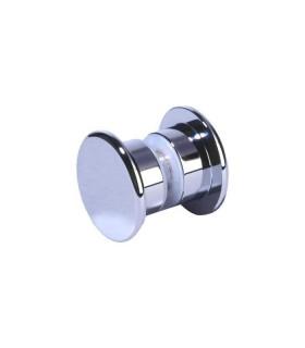 Paire de poignée bouton plat pour porte en verre