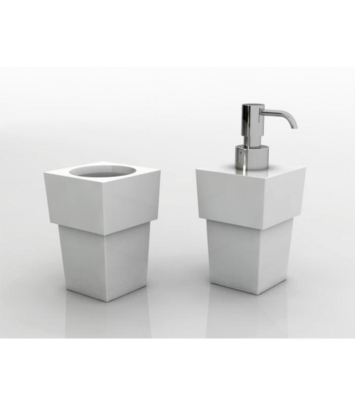 Distributeur de savon liquide à poser série Key + support brosse