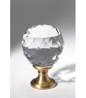 Boule à facettes départ de rampe d'escalier en cristal plein