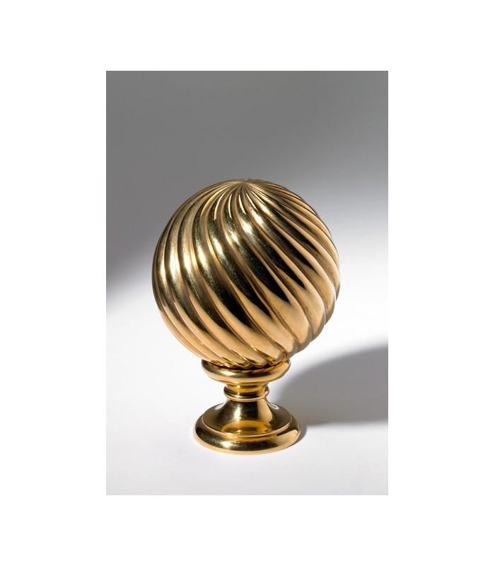 Boule d part de rampe d 39 escalier en bronze torsad igs d co - Boule d escalier en bois ...