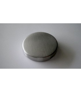 Rosace borgne ronde inox 53 mm