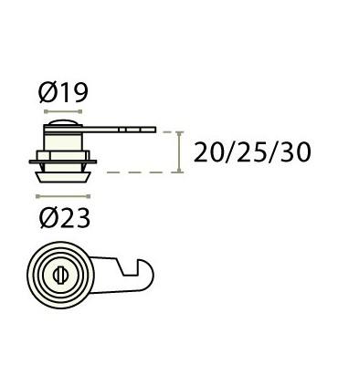 Serrure batteuse a paillettes avec cylindre amovible