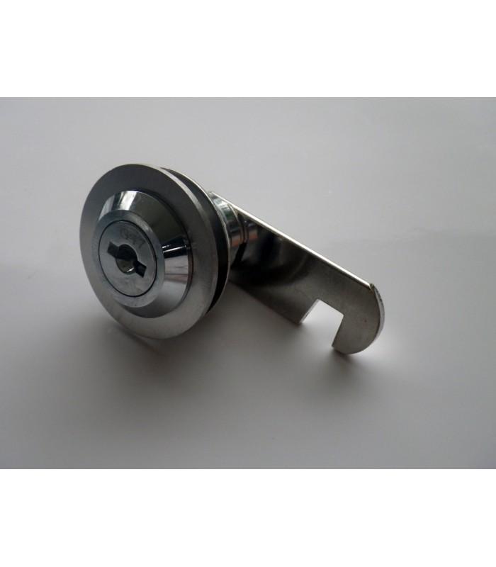 Serrure batteuse à cylindre amovible avec enjoliveur rond