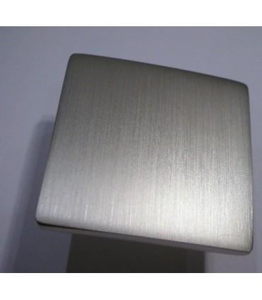 Poignée bouton série B-Square nickelé satiné