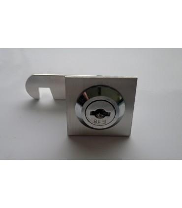 Serrure batteuse à cylindre amovible avec enjoliveur carré