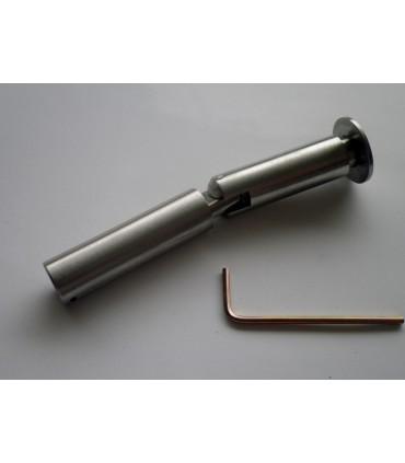 Fixation haute ou basse orientable en inox pour câble Ø 2.5 à 3 mm