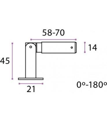 Fixation haute ou basse orientable pour câble Ø 3 mm
