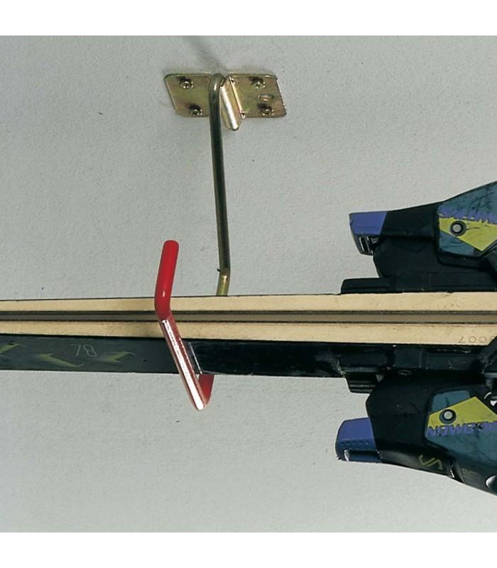 Crochet porte skis rabattable