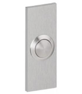 Bouton de sonnette rectangulaire 65/30 mm en inox brossé