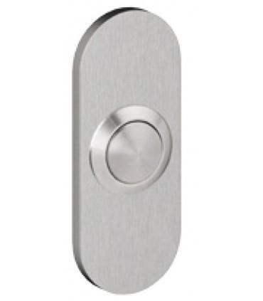 Bouton de sonnette forme oblong 65/30 mm en inox brossé