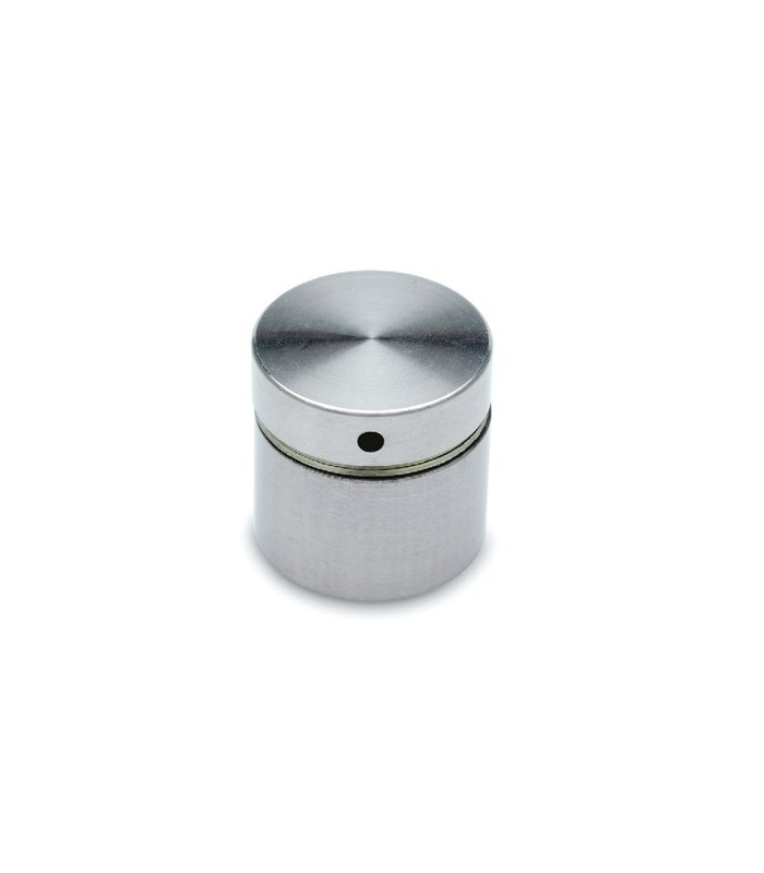 Entretoise avec cabochon plat en inox bross 30 mm igs for Plat professionnel inox