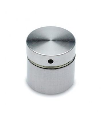 Entretoise avec cabochon plat en inox brossé Ø 30 mm