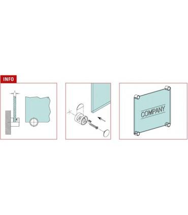 Fixation pour miroir et signalétique série Rondo
