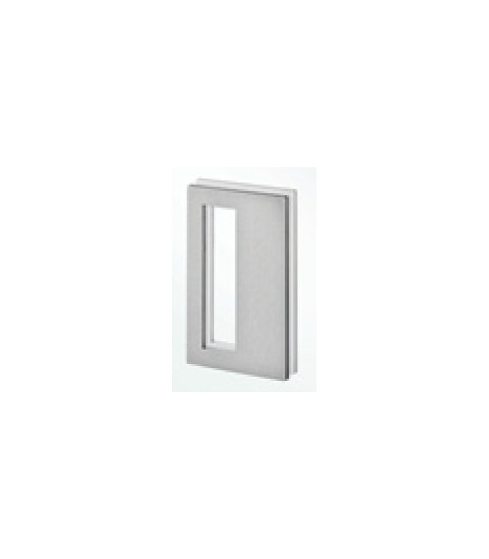 Poign e inox bross a coller sur porte coulissante en verre for Coller un miroir sur une porte