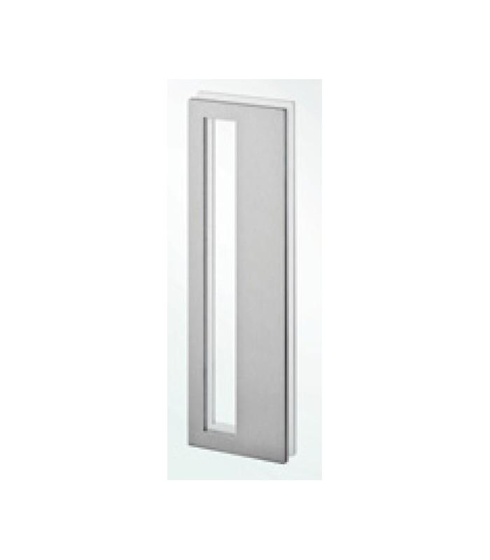 Poign e inox bross a coller sur porte coulissante en verre - Miroir a coller sur porte coulissante ...