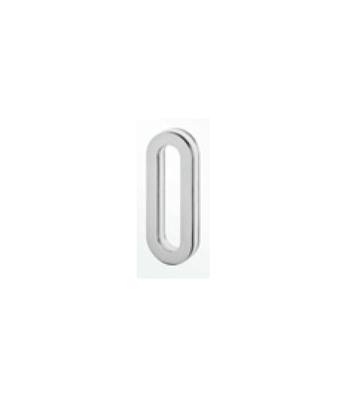 Poignée inox 150 mm à coller sur porte coulissante en verre