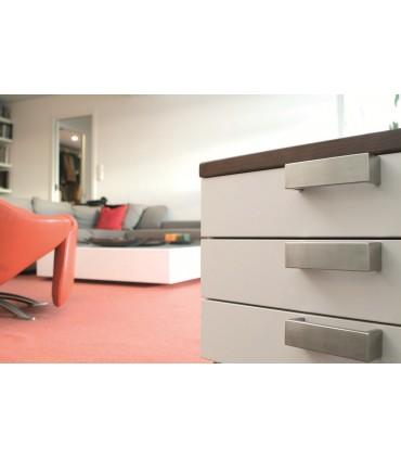 Poignée de meuble en inox série Big largeur 40 mm