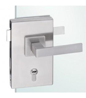 Serrure rectangulaire verticale pour porte en verre